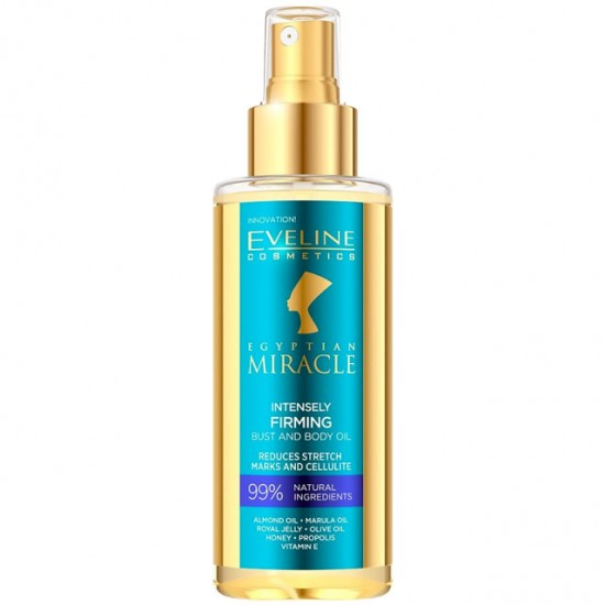 Ulei de Corp si Bust cu 99% Ingrediente Naturale Egyptian Miracle, Eveline Cosmetics, 150ml