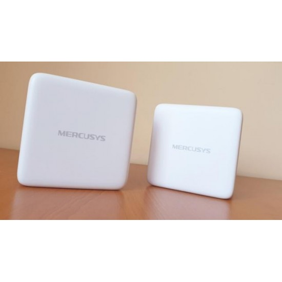 Sistem Wireless Mesh MERCUSYS Halo S12 AC1200, Dual-Band 300 + 867 Mbps, 2 pack, alb