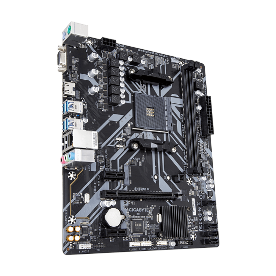 Placa de baza GIGABYTE B450M H, Socket AM4